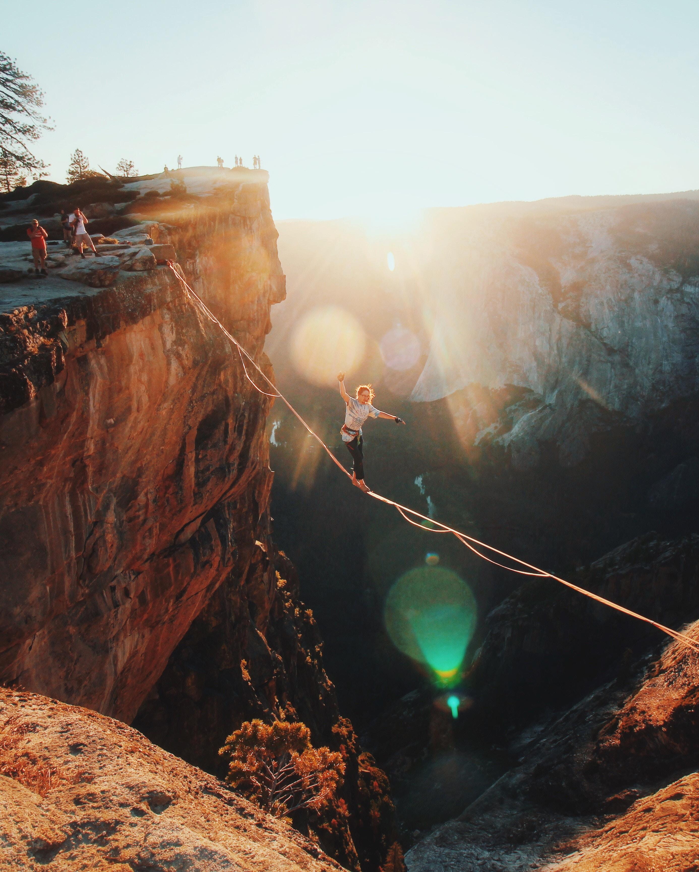 Highlining over a National Park