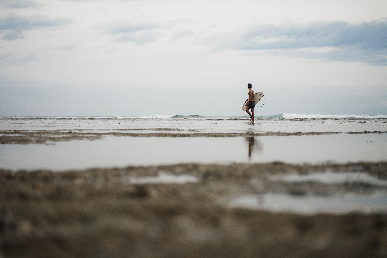 Surfer in Siargao